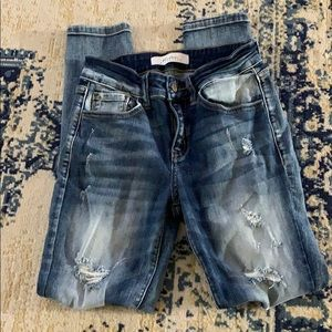 Kancan Signature Distressed Skinny Jeans Size 25